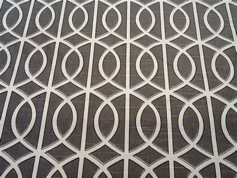 Drapery Fabric Sale dwell studio grey smoke white lattice gate modern cotton