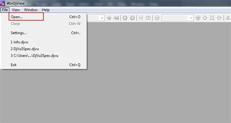 djvu format open with follow step by step working process of djvu viewer