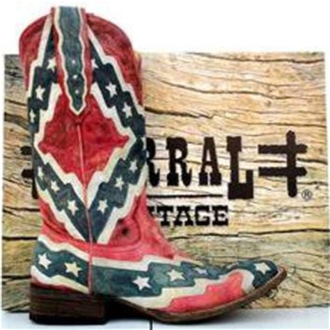 corral mens rebel flag square toe cowboy from j r s western