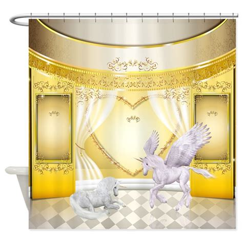 pegasus curtains pegasus and unicorn shower curtain by getyergoat