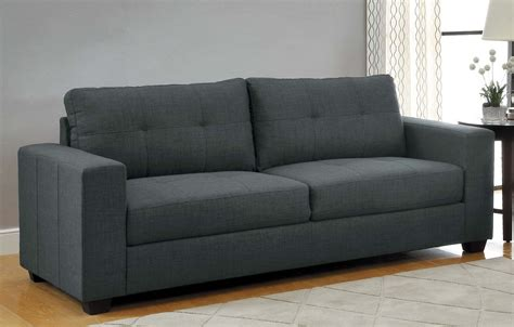 dark couch 1 166 00 ashmont modern 2pc sofa set in dark grey linen