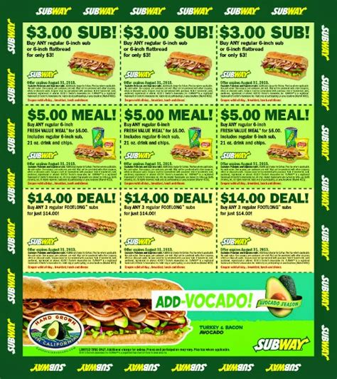 printable subway coupons november 2017 subway coupons printable october 2018 i9 sports coupon