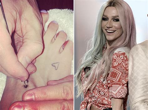 kesha tattoos ke ha s new foot what did she get toofab