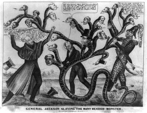 Kitchen Cabinet Government by Political Cartoons Westward Expansion Under Andrew Jackson