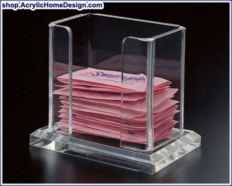 acrylic home design inc acrylic sweet and low package holder
