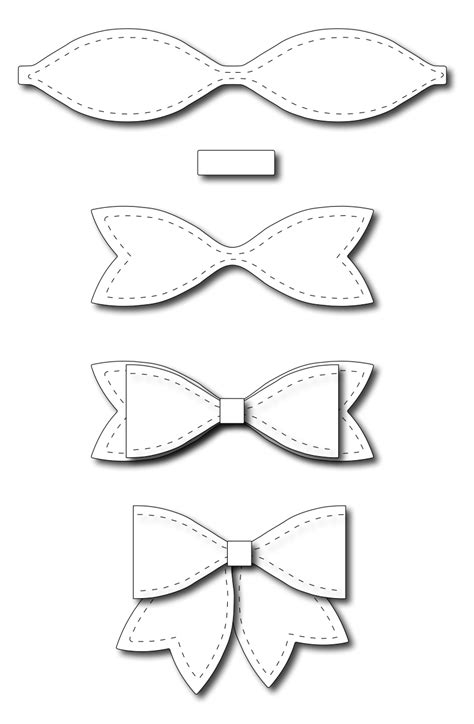 frantic ster precision dies large solid paper bow