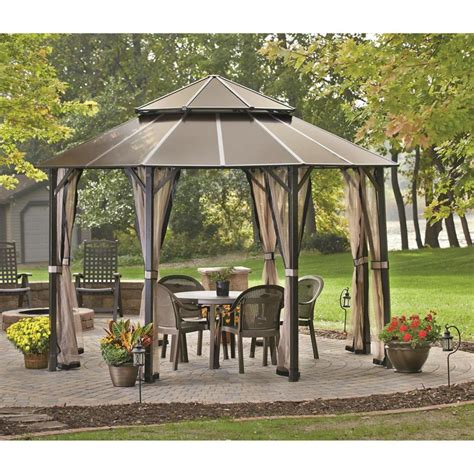 big gazebo gazebo design amusing hexagon hardtop gazebo walmart