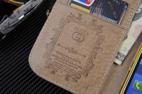 gucci leather wallet phone case  samsung galaxy note  phone swag
