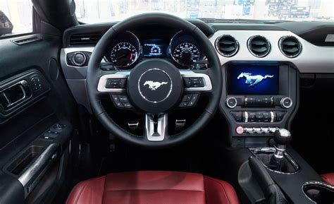 interior of mustang 2015 car and driver