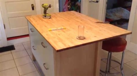 Kitchen Islands Ideas by Ikea Varde Four Drawer Kitchen Island Assembly Tutorial