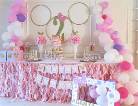 themes for girl bday parties minnie mouse birthday quot minnie 2nd birthday party