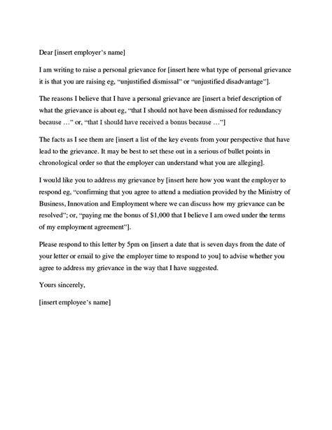 grievance template letters 37 editable grievance letters tips free sles ᐅ