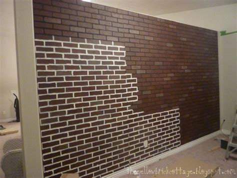 Poured Basement Painted To Look Like Brick Basement | poured basement painted to look like brick how i