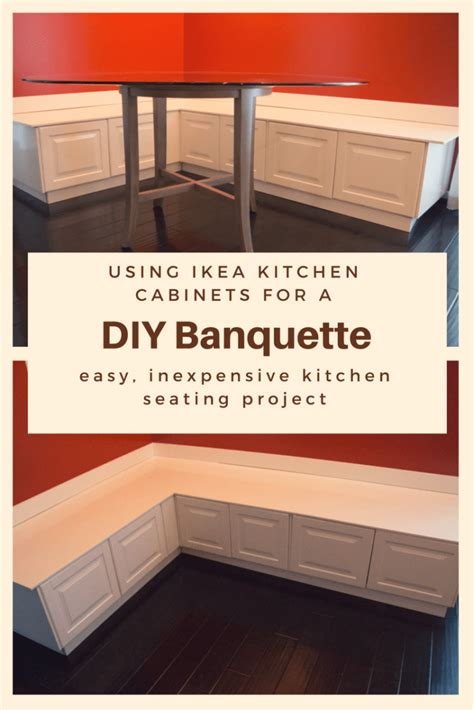 ikea cabinet banquette diy kitchen banquette bench using ikea cabinets ikea hacks
