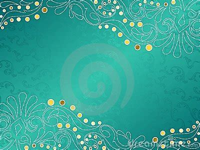 turquoise background  delicate swirls stock