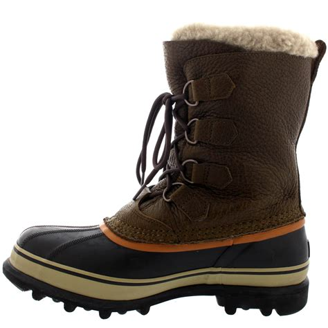 mens winter fur boots mens sorel caribou wi mid calf snow winter fur lined