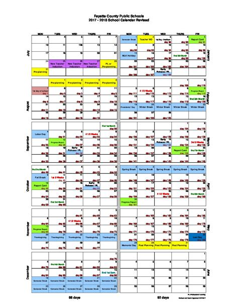 Fayette County School Calendar Central Office Modifies School Calendar Adds More