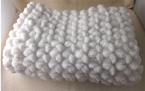 knitting pattern for pom pom baby blanket pomtastic pom pom blanket photo prop lj crochet