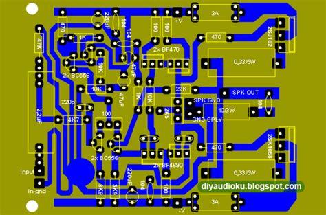 layout pcb bel rumah 100 watt mosfet power amplifier skema rangkaian elektronika