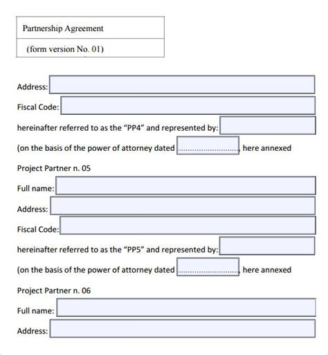 sle partnership agreement 16 free documents download
