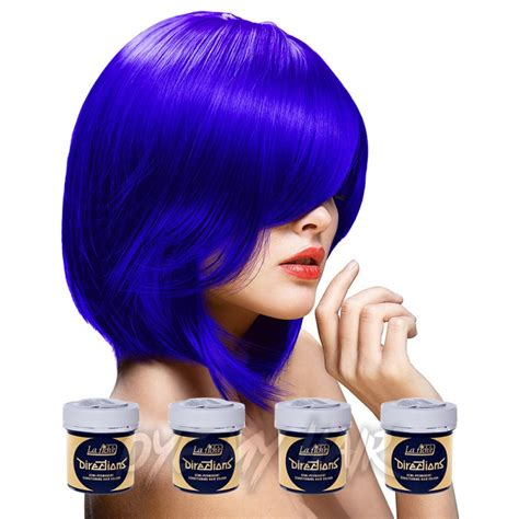 directions neon blue semi permanent hair dye 4 pack navy