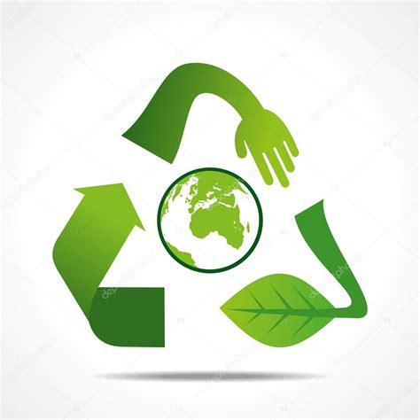 icon design concept green recycle icon design concept stock vector