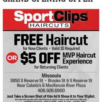 haircut coupons sport clips sport clips men s hair salons 3850 s reserve st