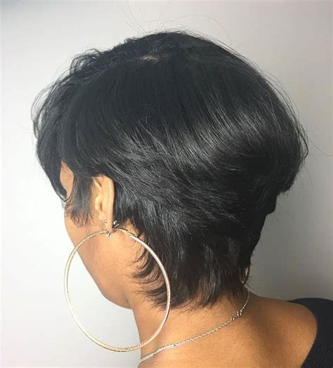 short haircuts when hair grows low on neck pretty mid length cut by baltimorestylist brittanytyrese