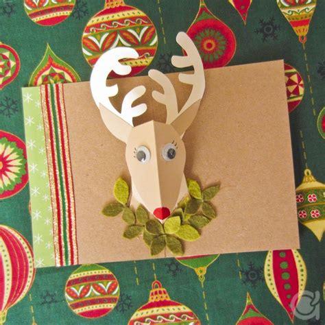 Reindeer Pop Up Card Template by Reindeer Pop Up Card Clever Paper Crafts