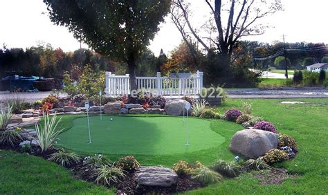 backyard putting greens do it yourself backyard putting