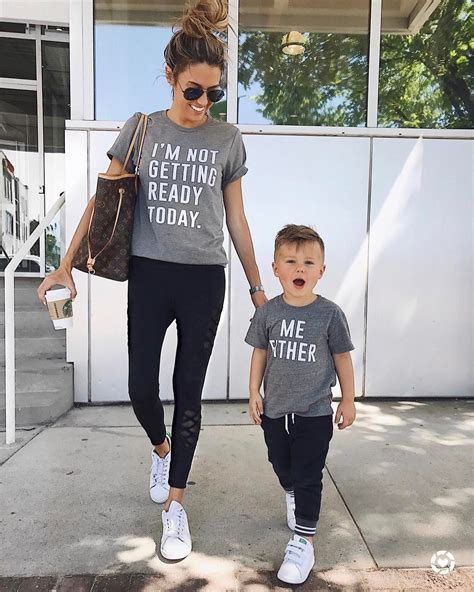 mother and son matching clothes happily little kids family pinterest future