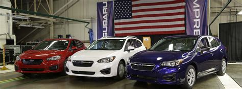 Where Subaru Made by American Made Subaru Impreza Rolls The Line In
