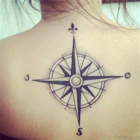 compass tattoo lower back 60 excellent compass tattoos designs on back