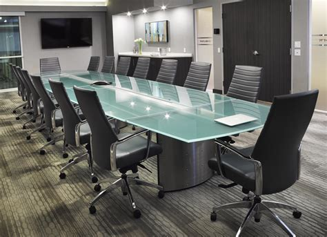 Black Glass Boardroom Table Custom Conference Table Elegantly Crafted For The Sheltair Conference Room Stoneline Designs