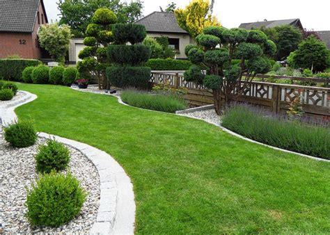 pflegeleichte gärten gestalten garten mit kies und steinen gestaltungsideen gartenbonsai
