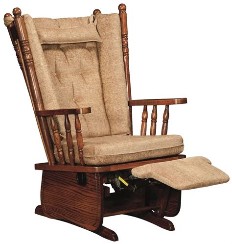 rocker glider chairs amish traditional 4 post glider chair upholstered foot