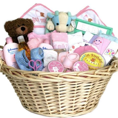 gift for baby baby gift basket deluxe baby gift basket pink for