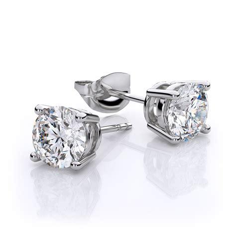 In Stud Earrings white topaz stud earrings in 14k white gold 6mm
