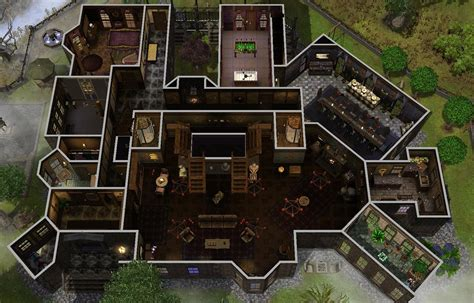 Gothic Mansion Floor Plans by Mod The Sims The Spooky Mansion