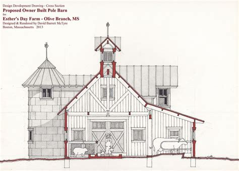 cross section architecture design drawing cross section through barn for esther s
