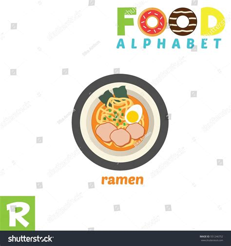 vector illustration alphabet food  letter stock vector