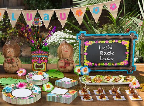 backyard luau party ideas totally tiki luau party ideas party city