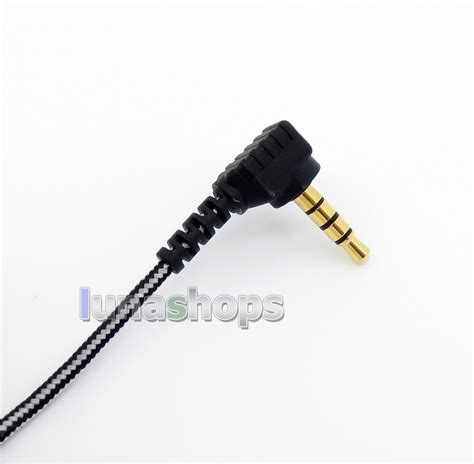 Earphone Sennheiser Ie 8 black and white mic remote earphone hook audio cable for