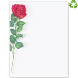 red rose border papers