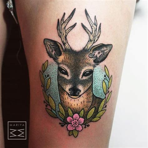deer tattoo fail 31 amazing deer tattoos with antler best designs with