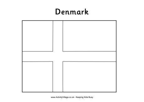 denmark colouring flag