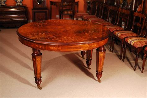 Dining Room Tables For 14 Marquetry Walnut Dining Table And 14 Chairs At