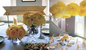 yellow and gray centerpieces gray and yellow baby shower by chelle paperie the