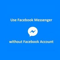 now use messenger without a account