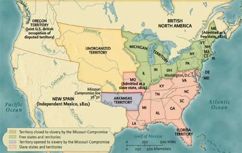 map of united states in 1820 1820 1865 norton anthology of american literature w w